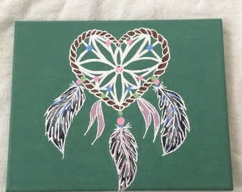 Dreamcatcher 9'x12' canvas acrylic painting