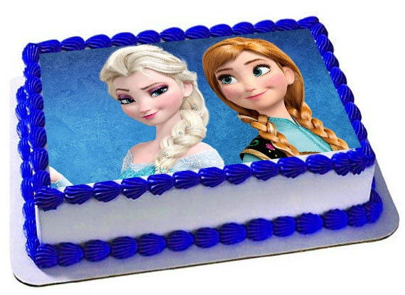 Edible Cake Images Elsa : Ana Elsa Frozen Edible Cake Topper Frosting Sheet Frozen