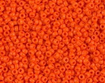 11/0 Orange   #406  Miyuki Seed Beads - 10 grams