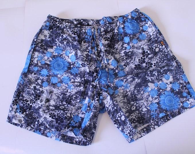 Khushi Shorts - Black & Blue Floral