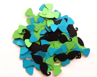 Mustache and Bowtie Confetti - Little Man Birthday - Little Man Baby Shower - Little Man Party Decorations - Mustache Party - Baby Boy