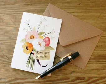 Greetings Card, 'Thank You'
