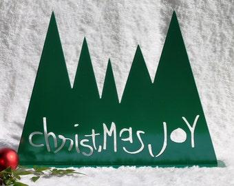 Christmas Trees -18- Christmas Mantel Decoration, Fireplace Decor, Christmas Joy, Christmas Decorations