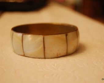 Brass and Mother of Pearl Bangle