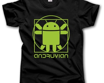Andruvian t-shirt S-XXXL Android Robot Phone Mobile Smartphone Funny Geek