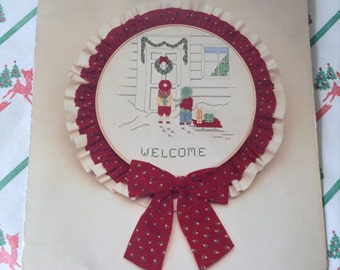 C.1983~If We Could Make It Christmas~Cross~Stitch Patterns Book~Needles and Crafts