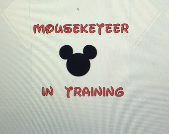 Mouseketeer in trainingt shirt or onesie