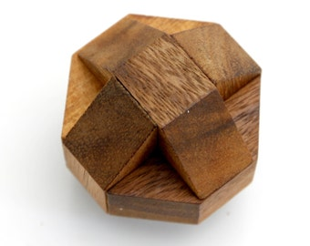 Wooden Toy : Mini Nails Cube - The Organic Natural Puzzle Game Play for Baby and Kids