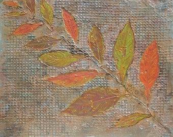 "Modern Abstract Contemporary Wall Art Textural Painting ""Screen Play"" Handmade"
