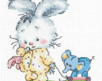 Cross Stitch Kit Top-Top (bunny)