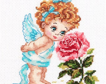 Cross Stitch Kit Angel of our Happiness