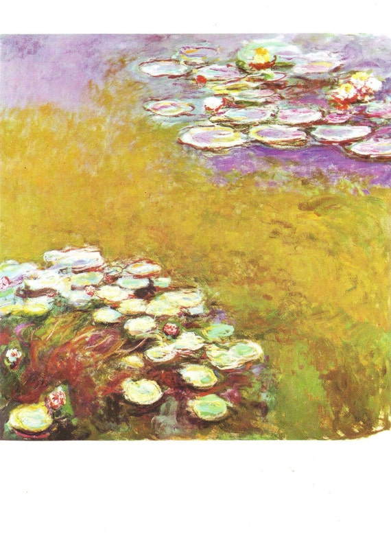 Vintage Postcard ~ Claude Monet ~ Nympheas ~ Water Lilies ~ art postcard ~ art card ~ impressionism ~ impressionist art ~ gift for her ~