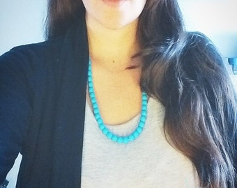 Teal Necklace - The Alison - Casual Chic Chewable Necklace from Paris