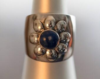 SALE-Silver Lapis Lazuli Band Ring