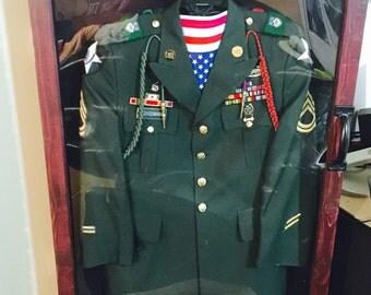 Shadowbox for military uniform.
