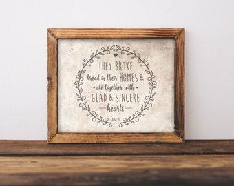 8 x 10 Broke Bread (Print Only)
