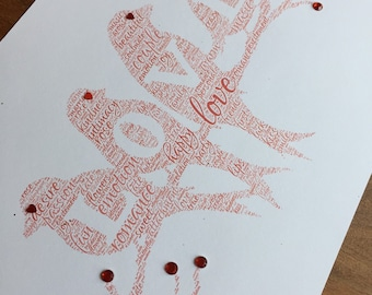 Love prints perfect for Valentines of Anniversary