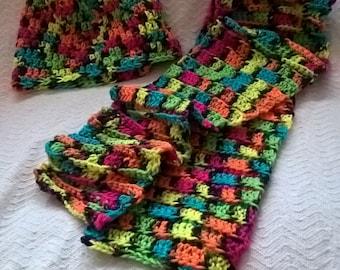 Neon Colors Hat & Scarf set