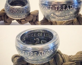 1oz Silver coin ring