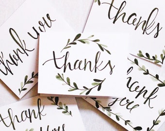 5 Watercolor Thank You Cards