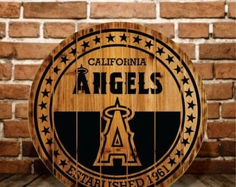 California Angels Rustic Sign - Buy One - Get One - FREE (Last Day)