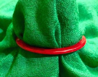 Skinny Red Bakelite Bangle