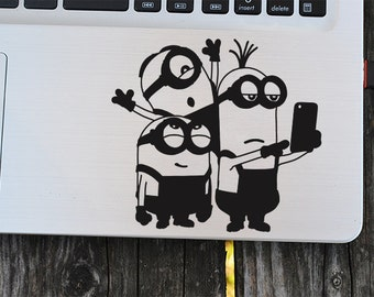 Minions vinyl decal, Selfie Minions, macbook decal, car decal, wall decal, macbook sticker, wall sticker, kids party