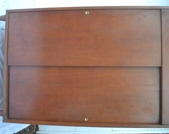 Mid Century Modern Cedar Lined Armoire Wardrobe