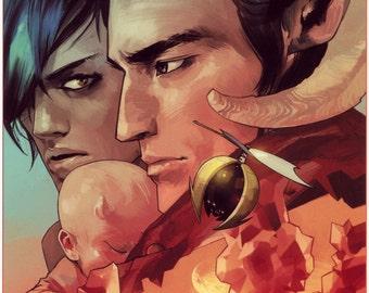 Saga Comic Large A1 Poster