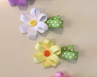 Colorful Daisy Hairbow Set