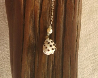 Drupe Shell Sterling Silver Necklace