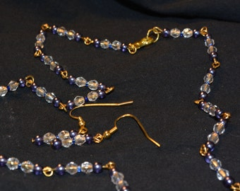 blue and crystal in gold