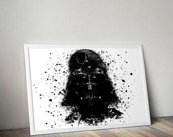 Darth vader poster, ART Poster, star wars poster, star wars poster, minimalist poster art
