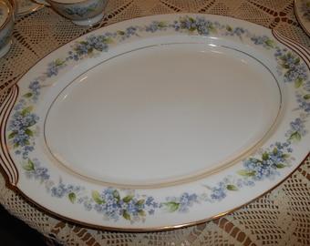 """Large 16"""" X 12"""" Platter in Ramona #5203 Noritake China ~ Made in Japan ~ Circa 1951 - 1957"""