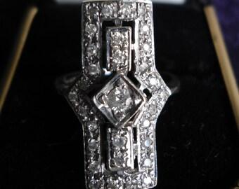 English Art Deco Ring
