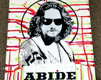 "The Dude ""Abide"" (The Big Lebowski) Painting - 22x28"