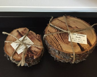 Reclaimed BC Applewood Coaster sets of 4