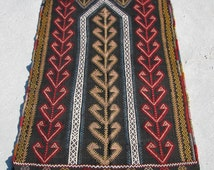 Turkish Antique Hand Made Prayer Cicim(Embroidery)Kilim Rug- 82cm x 124cm- 2'8.3''x 4'0.8''Excluding Fringes