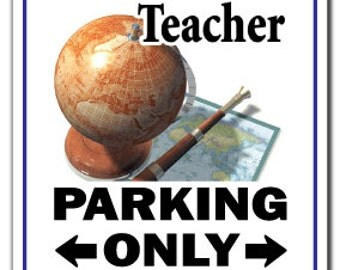 Social Studies Teacher ~Sign~ Parking Signs Class Gift