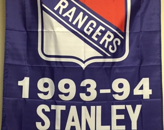 New York Rangers Stanley Cup Champions Banner Flag 1928 1933 1940 1994 3 x 5
