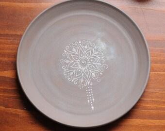 Henna Design Dinner Plate