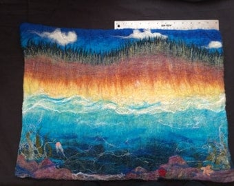 I Sea You! Felted painting