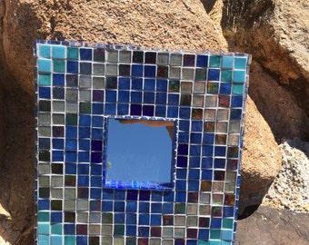 Blue and Grey Southwest Mirror