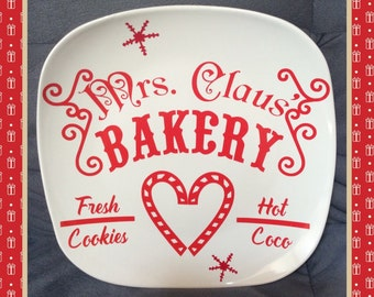 Christmas plates, Kitchen plates, cookie plates, personlized plates