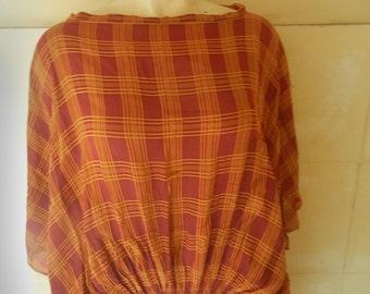 dress in fucsia and orange