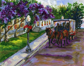 Lilac Festival, Mackinac Island, Horse Carriage, Horse Art