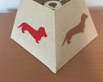 Dashchund sausage dog design homemade lampshades