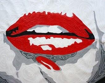 Nervous Tick...Original Pop Art Oil Painting