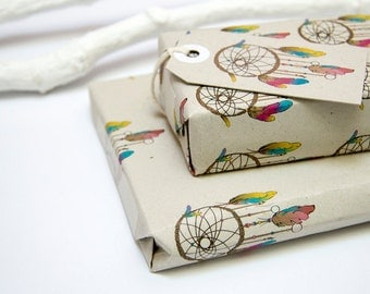 Dreamcatcher Horizontal Gift Wrapping Paper D01