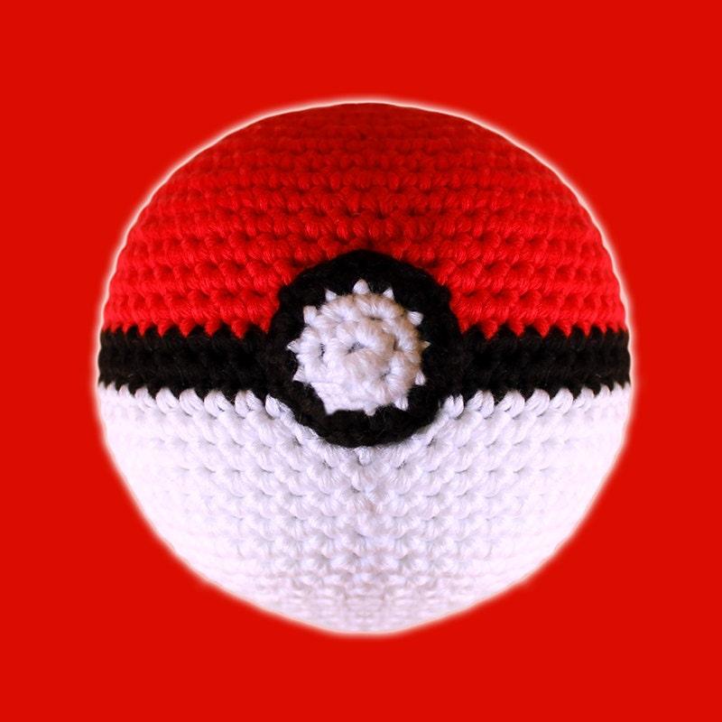 Amigurumi Geek Patterns : Poke ball pokemon amigurumi pattern pdf nerd toy